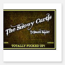 Snowy Curtis 'Original' Band Logo Square Car Magne