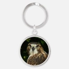 Red-tailed Hawk Round Keychain