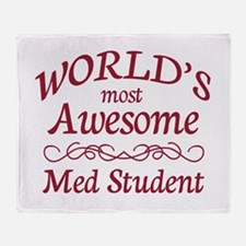 Awesome Med Student Throw Blanket