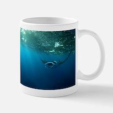 Manta Ray Swims in the water Mug
