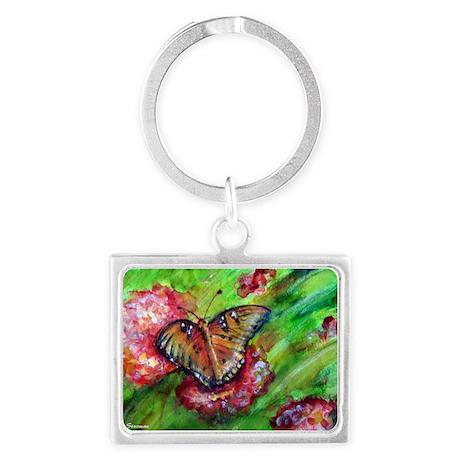 Butterfly Nature art Landscape Keychain by mcbutterflyfloral