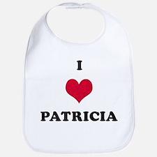 I Love Patricia Bib
