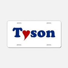 Tyson with Heart Aluminum License Plate
