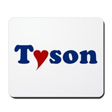Tyson with Heart Mousepad