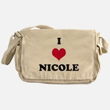 I Love Nicole Messenger Bag