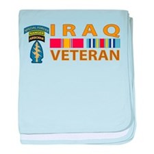 Iraq Veteran Logo baby blanket