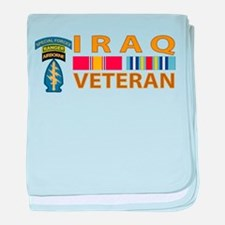 Iraq Veteran Logo baby blanket
