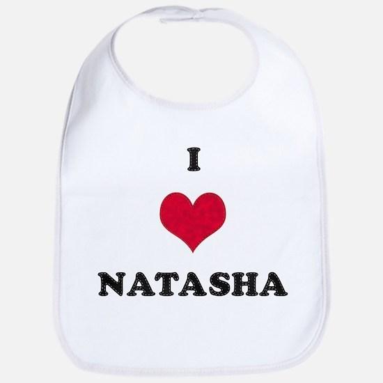 I Love Natasha Bib