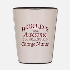 Awesome Charge Nurse Shot Glass