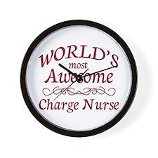 Awesome Charge Nurse Wall Clock