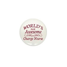 Awesome Charge Nurse Mini Button (10 pack)