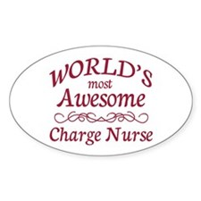 Awesome Charge Nurse Decal