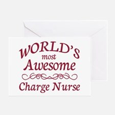 Awesome Charge Nurse Greeting Card