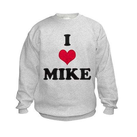 I Love Mike Kids Sweatshirt