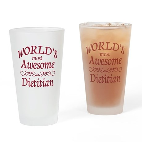Awesome Dietitian Drinking Glass
