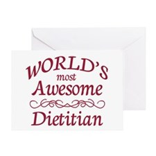 Awesome Dietitian Greeting Card