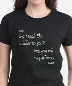 CASTLE kill my patienceWHITEfont T-Shirt