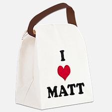 I Love Matt Canvas Lunch Bag
