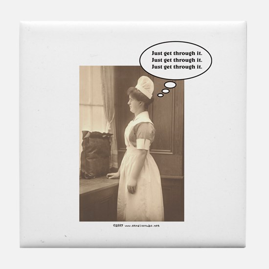 Get Thru Nursing School Tile Coaster