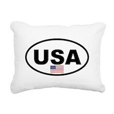 USA 3.png Rectangular Canvas Pillow