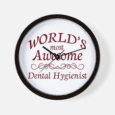 Awesome Dental Hygienist Wall Clock