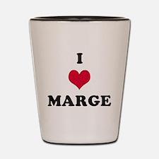 I Love Marge Shot Glass