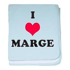 I Love Marge baby blanket