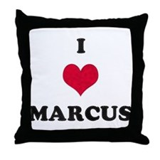 I Love Marcus Throw Pillow