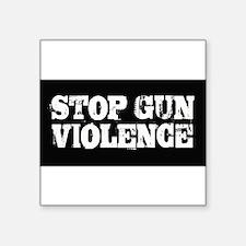 "Stop Gun Violence Square Sticker 3"" x 3"""