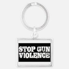 Stop Gun Violence Landscape Keychain