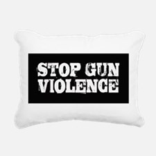 Stop Gun Violence Rectangular Canvas Pillow