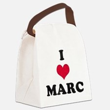 I Love Marc Canvas Lunch Bag