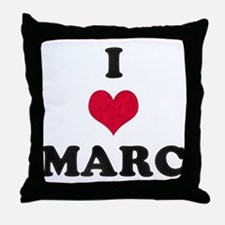 I Love Marc Throw Pillow