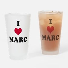 I Love Marc Drinking Glass
