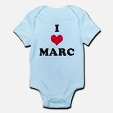 I Love Marc Infant Bodysuit