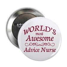 """Awesome Advice Nurse 2.25"""" Button (10 pack)"""