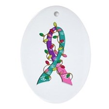 Cute Cancer Ornament (Oval)