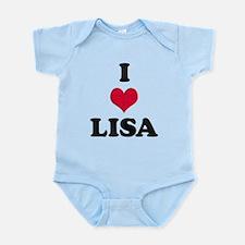 I Love Lisa Infant Bodysuit