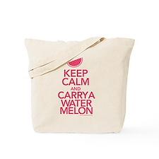 Keep Calm Carry a Watermelon Tote Bag