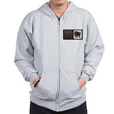 Tongass Black Bear Badge Zip Hoodie