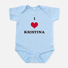 I Love Kristina Onesie