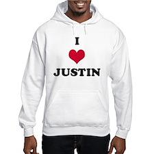 I Love Justin Hoodie