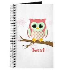 Custom name winter owl girl Journal