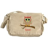 Owl Canvas Messenger Bags