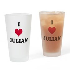 I Love Julian Drinking Glass
