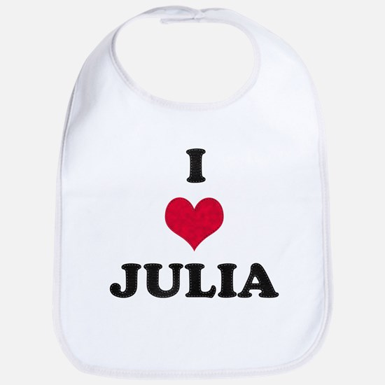 I Love Julia Bib