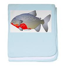 red belly piranha baby blanket