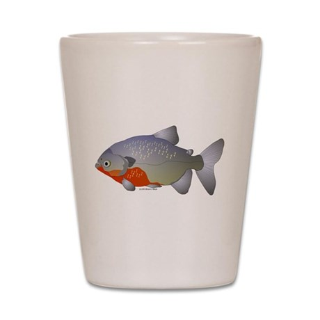 red belly piranha Shot Glass