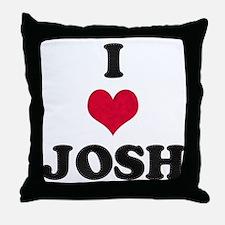 I Love Josh Throw Pillow