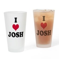 I Love Josh Drinking Glass